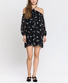 Starry Night Print Mini Dress