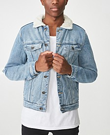 Borg Denim Jacket