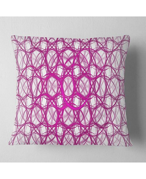 "Design Art Designart Pink Unusual Metal Grill Abstract Throw Pillow - 18"" X 18"""