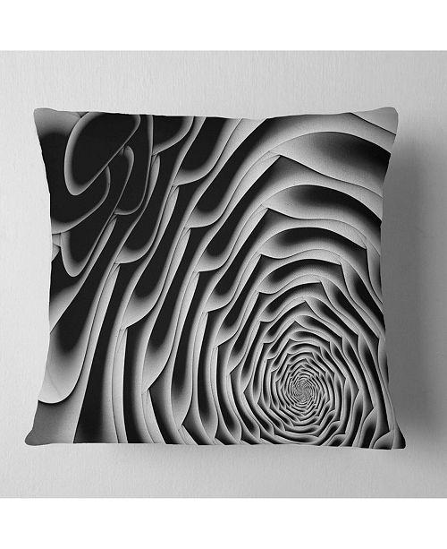 """Design Art Designart White Flower Shaped Fractal Art Abstract Throw Pillow - 16"""" X 16"""""""