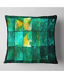 """Designart Astrological Space Map Abstract Throw Pillow - 26"""" X 26"""""""