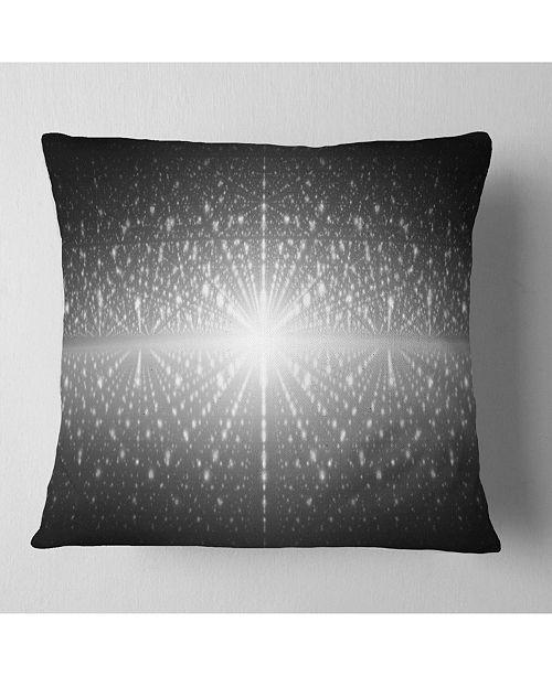 "Design Art Designart Cosmic Galaxy With Shining Stars Abstract Throw Pillow - 16"" X 16"""