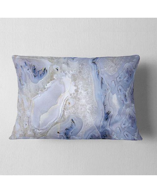 "Design Art Designart Agate Stone Background Abstract Throw Pillow - 12"" X 20"""