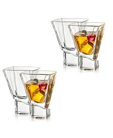 JoyJolt Carre Square Martini Glasses, Set of 4