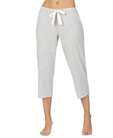 Striped Capri Pajama Pants