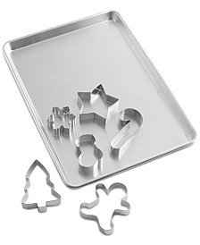 Martha Stewart Collection Half-Sheet Pan with Cookie Cutters, Created for Macy's