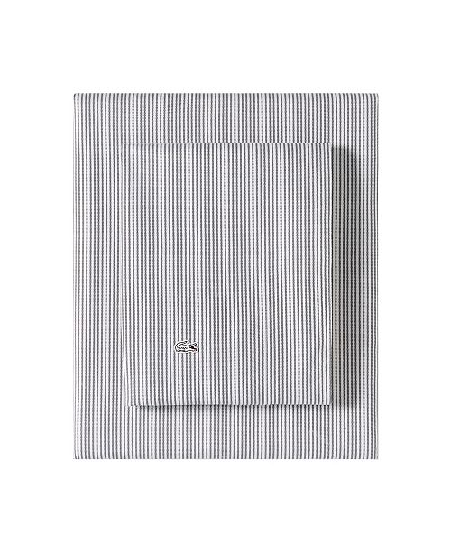 Lacoste Home Lacoste Pinstripes Grey Full Sheet Set