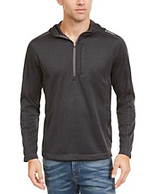 Men's Fan Point Mesh Back Half-Zip Hoodie