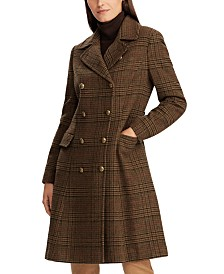 Lauren Ralph Lauren Plaid-Print Double-Breasted Coat