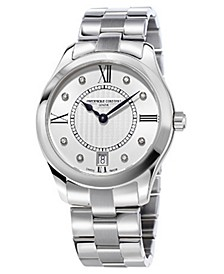 Women's Swiss Quartz Diamond (1/10 ct. t.w.) Stainless Steel Bracelet Watch 36mm