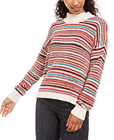 Hippie Rose Juniors' Chenille Mock-Neck Sweater