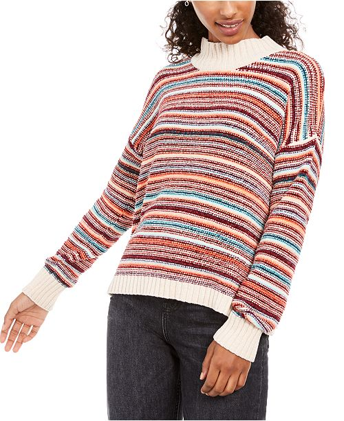 Hippie Rose Juniors' Chenille Mock-Neck Sweater