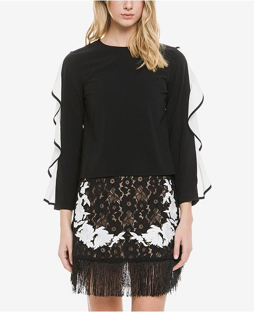 endless rose Cascading Ruffle Top