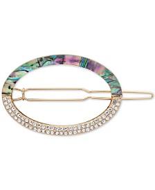 Anne Klein Gold-Tone Stone & Crystal Hair Pin