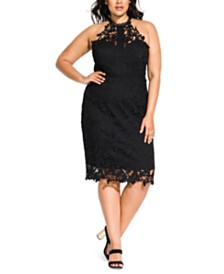City Chic Trendy Plus Size Lace Victorian Dress