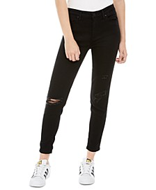 Juniors' Ripped-Knee Skinny Jeans