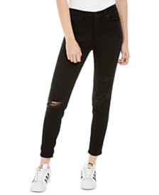 Celebrity Pink Juniors' Ripped-Knee Skinny Jeans