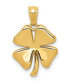4 Leaf Clover Pendant in 14k Yellow Gold