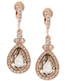 Givenchy Crystal Clip-On Drop Earrings