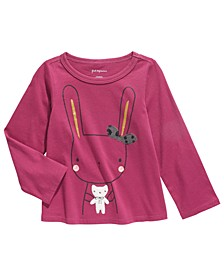Baby Girls Cotton Bunny & Bear T-Shirt, Created For Macy's