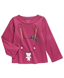 First Impressions Baby Girls Cotton Bunny & Bear T-Shirt, Created For Macy's
