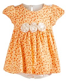 Baby Girls Cotton Ditsy Floral Sunsuit, Created For Macy's