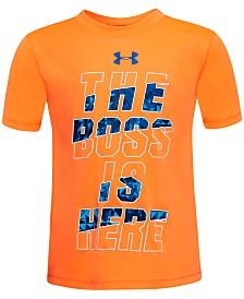 Under Armour Little Boys Boss-Print T-Shirt