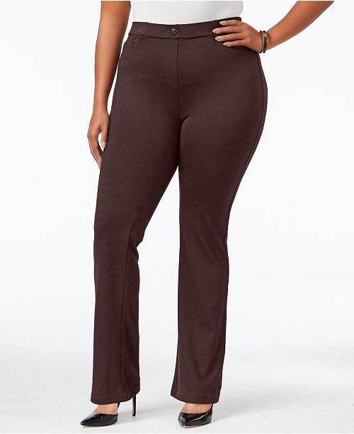 Style & Co Petite Plus Size Bootcut Pants, Created for Macy's