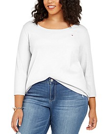 Plus Size 3/4-Sleeve T-Shirt