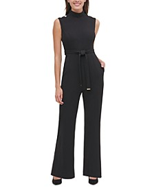 Mock-Neck Jumpsuit