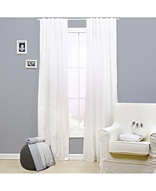 "42"" x 84"" Grey Triangle Print Curtain Set"