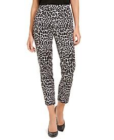 Leopard Print Pull-On Pants, Regular & Petite Sizes