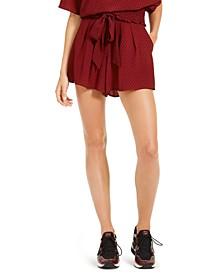 Mini Mod Dot Tie-Waist Shorts