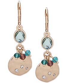 Gold-Tone Stone, Bead & Disc Drop Earrings