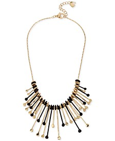 """Two-Tone Multi-Stick Statement Necklace, 17"""" + 2"""" extender"""