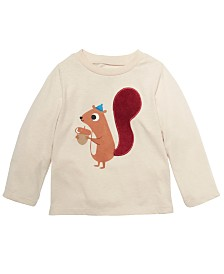 First Impressions Baby Boys Long-Sleeve Squirrel T-Shirt, Created For Macy's