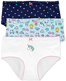Little & Big Girls 3-Pk. Unicorn Underwear