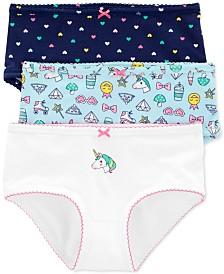 Carter's Little & Big Girls 3-Pk. Unicorn Underwear