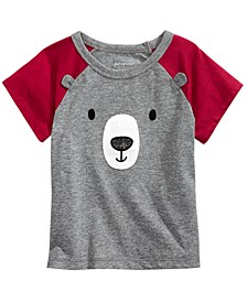 Baby Boys Short Sleeve Bear Face Raglan, Created for Macy's