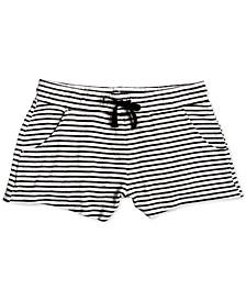 Big Girls Striped Fleece Shorts