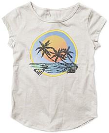 Big Girls Beach-Print T-Shirt