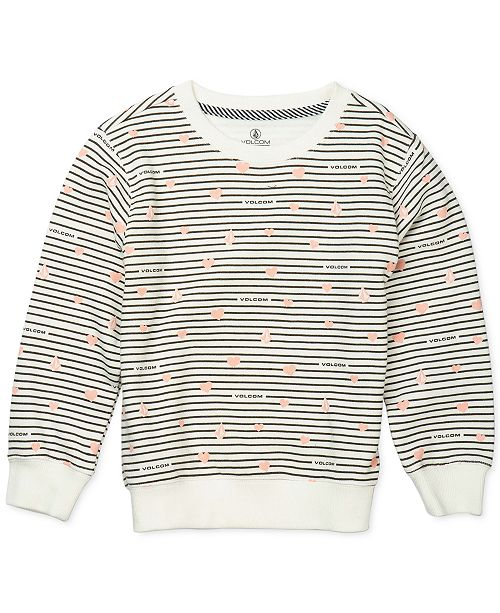Volcom Toddler & Little Girls Striped Fleece Sweatshirt