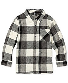 Toddler & Little Boys Buffalo-Plaid Cotton Shirt