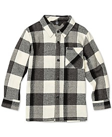 Volcom Toddler & Little Boys Buffalo-Plaid Cotton Shirt