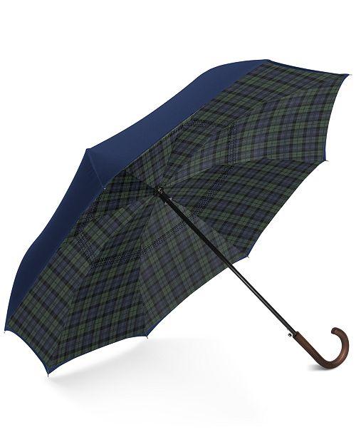 Shedrain Plaid Reverse-Close Umbrella