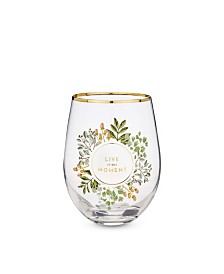 Twine Live in The Moment Stemless Wine Glass