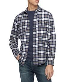 Calvin Klein Jeans Men's Western Plaid Shirt