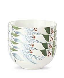 Frosted Pines Appetizer Bowls, Set of 4