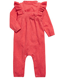 First Impressions Baby Girls 2-Pc. Cotton Sweater Bodysuit & Overall Set, Created For Macy's