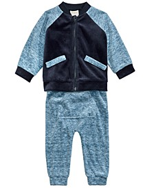 Baby Boys 2-Pc. Varsity Jacket & Jogger Pants Set, Created For Macy's